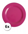 Hard plastic camping borden roze 6 stuks 25 cm