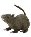 Harige decoratie rat grijs 21 cm