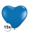 Hartjes ballonnen blauw 15 stuks