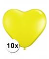Hartjes ballonnen geel 10 stuks