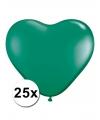 Hartjes ballonnen groen 25 stuks