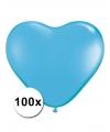 Hartjes ballonnen lichtblauw 15 cm 100 stuks