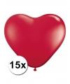 Hartjes ballonnen rood 15 stuks