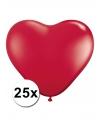 Hartjes ballonnen rood 25 stuks