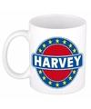 Harvey naam koffie mok beker 300 ml
