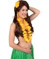 Hawaii accessoire set oranje