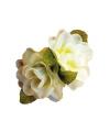 Hawaii haarclip witte roos