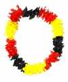 Hawaii krans zwart geel rood