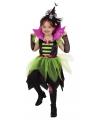 Heksen jurk groen zwart voor kinderen