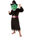 Heksen kostuum met groot pluche masker