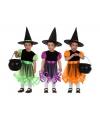 Heksen kostuum oranje voor meisjes