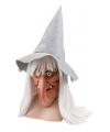 Heksen masker met hoed