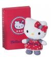 Hello kitty knuffeltje rood 10 cm