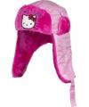 Hello kitty muts met oorflappen roze meisjes