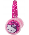 Hello kitty oorwarmers roze