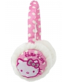 Hello kitty oorwarmers wit met roze