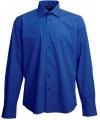 Heren overhemd kobalt blauw