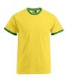 Heren shirt geel groen