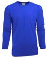 Heren shirt kobalt met lange mouwen