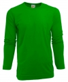 Heren shirt lime met lange mouwen