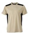 Heren sport of werk t shirt beige
