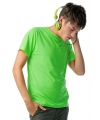 Heren t shirt neon groen