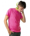 Heren t shirt neon roze