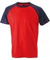 Heren t shirt rood navy