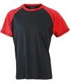 Heren t shirt zwart rood