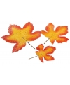 Herfst bladeren oranje 3 stuks