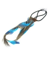 Hippie haarband met blauwe veren