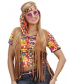 Hippie vest met franjes en hoofdband voor dames