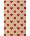Hobby karton met rode hartjes