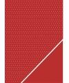 Hobby karton rood met stipjes