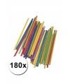 Hobby materiaal gekleurde knutselhoutjes 180 st