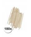 Hobby materiaal knutselhoutjes naturel 180 st
