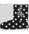 Hoge dames sloffen met sterren print navy