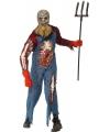 Holbewoner zombie kostuum met wond