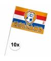 Holland zwaaivlaggetjes 10 x