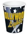 Hollywood thema bekers 8 stuks