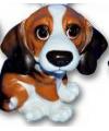 Honden beeldje beagle puppie 13 cm