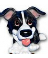 Honden beeldje border collie puppie 13 cm