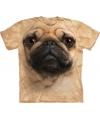 Honden t shirt mopshond voor volwassenen