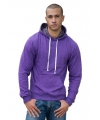 Hooded sweater paars voor heren