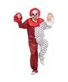 Horror clown kostuum met masker rood wit