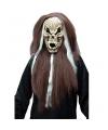 Horror masker schedel met lang haar
