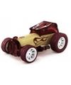 Hotrod bordeaux bamboe speelgoed auto 8 cm