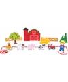 Houten boerderij speelgoed set 13 delig