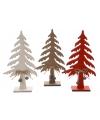 Houten kerstboom rood 25 cm