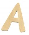 Houten letter a 6 cm